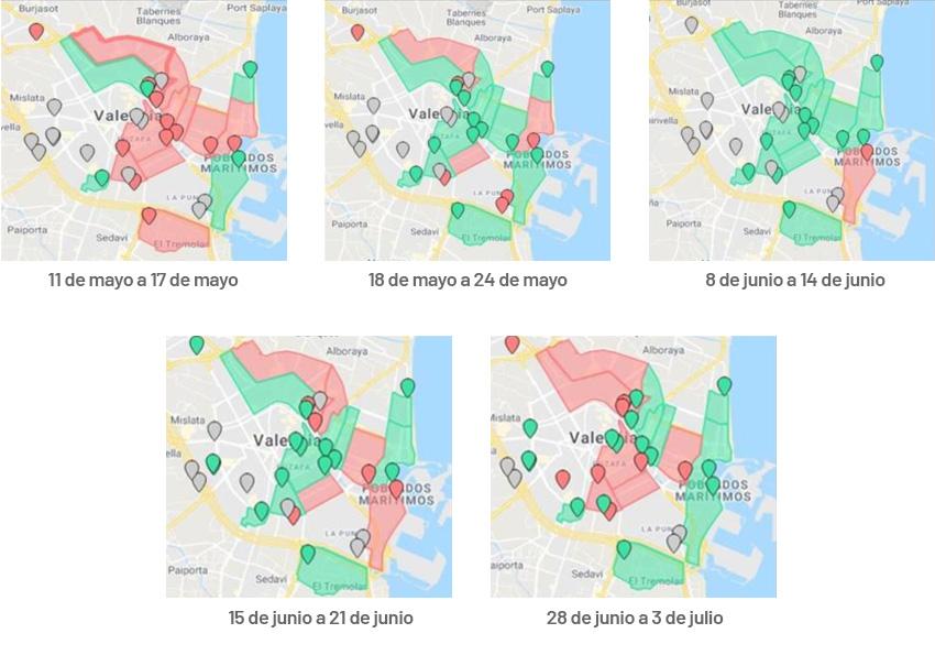 Evolución SARS-CoV-2 en Valencia GoAigua SARS Analytics